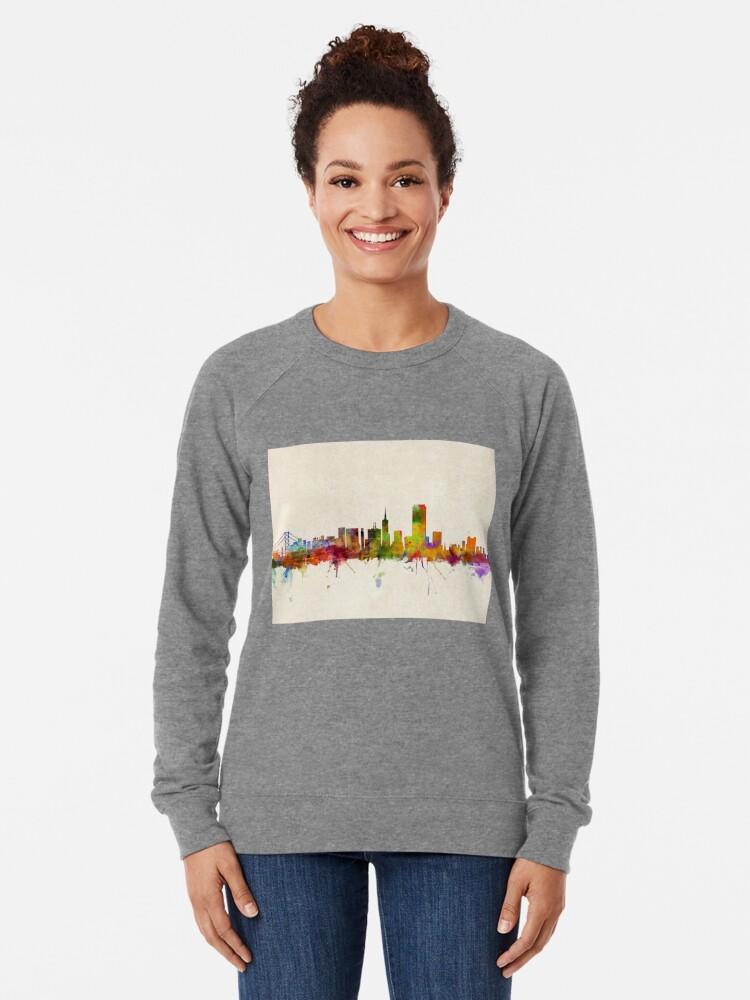 Alternative Ansicht von Skyline von San Francisco Leichter Pullover