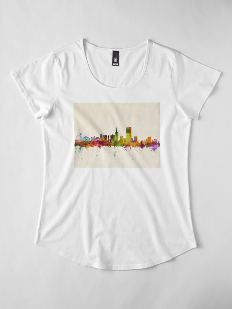Alternative Ansicht von Skyline von San Francisco Premium Rundhals-Shirt
