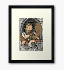 Princess and Dragon Framed Print