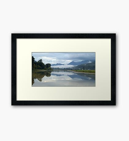 Clouds and Reflections Framed Print