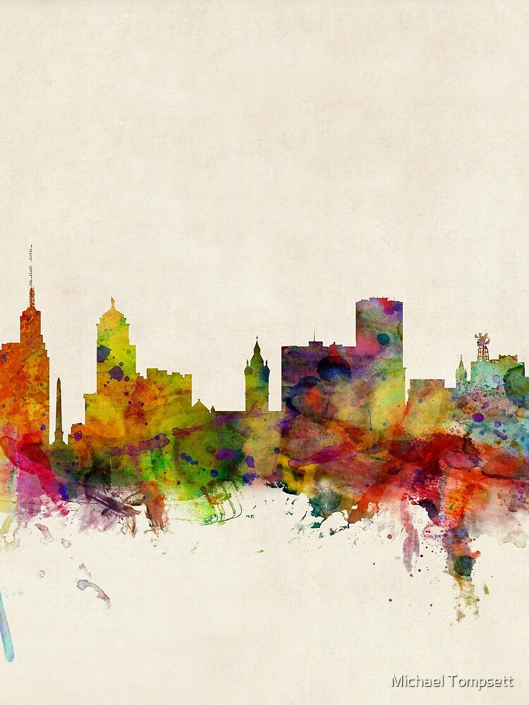 Buffalo New York Skyline Stadtbild von ArtPrints
