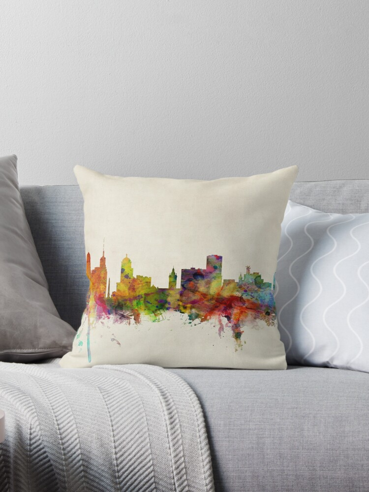 Buffalo New York Skyline Stadtbild von Michael Tompsett