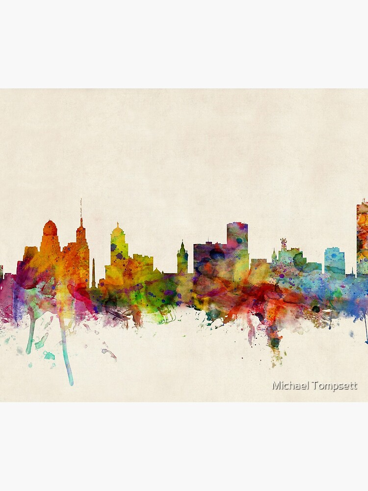 Buffalo New York Skyline Stadtbild von ArtPrints