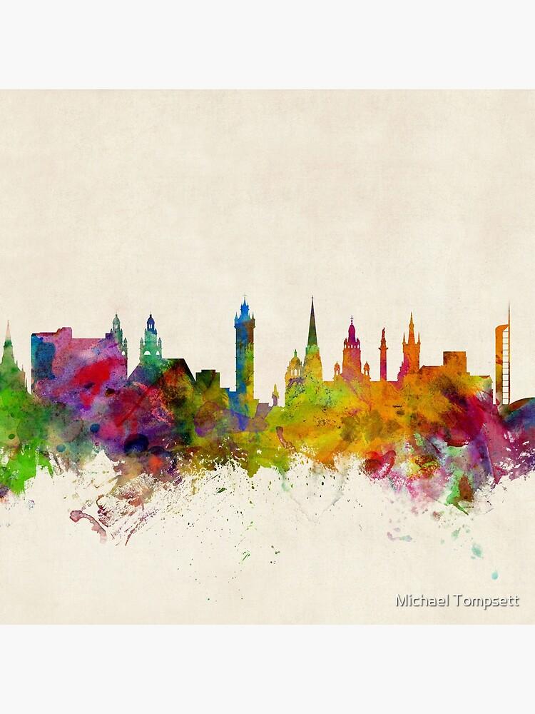 Glasgow Schottland Skyline Stadtbild von ArtPrints