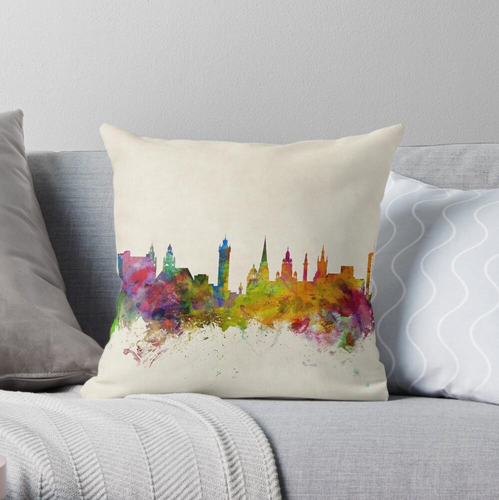 Glasgow Schottland Skyline Stadtbild Dekokissen