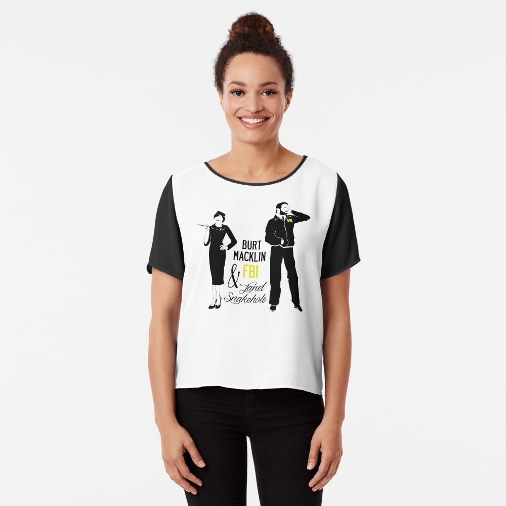 9dc8fa324 Graphic T-Shirt. $29.58 · Burt Macklin FBI & Janet Snakehole Chiffon Top