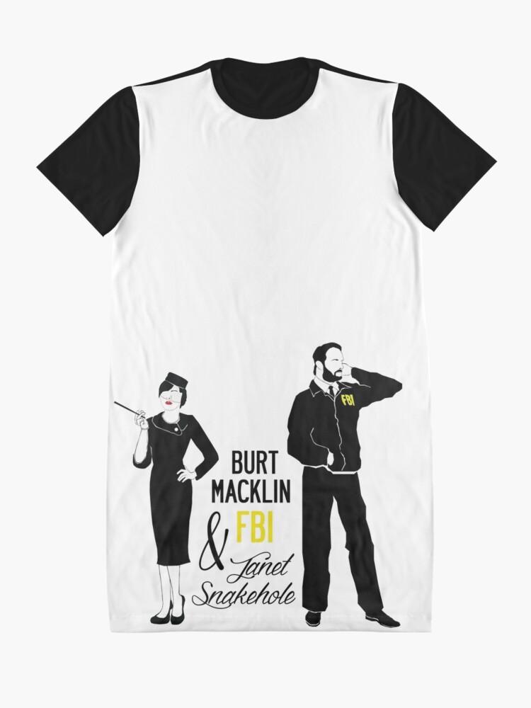 3262f7495 Alternate view of Burt Macklin FBI & Janet Snakehole Graphic T-Shirt Dress