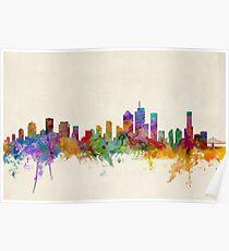 Brisbane Australia Skyline Cityscape Poster