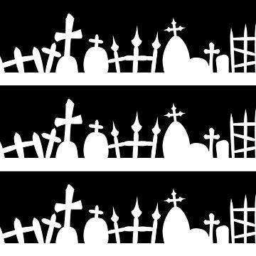 Halloween Decor Graveyard Lines by xsylx