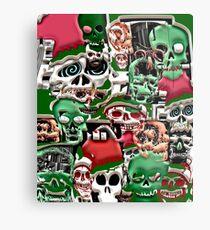 skulls christmas  Metal Print