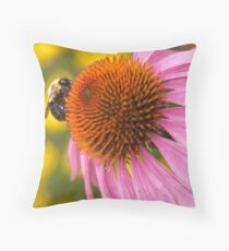 Bumbly Bright Throw Pillow