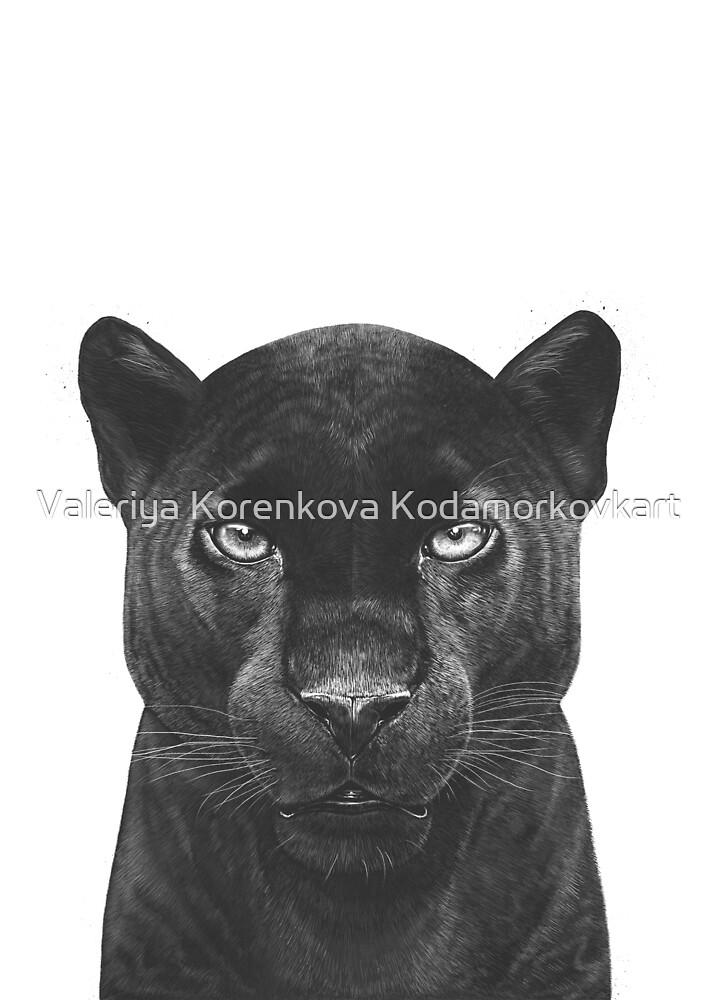 Black Panther by Valeriya Korenkova Kodamorkovkart