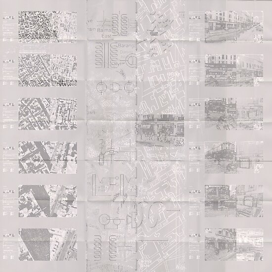 140 Regent St - Faux-Drawing Map by Pascale Baud
