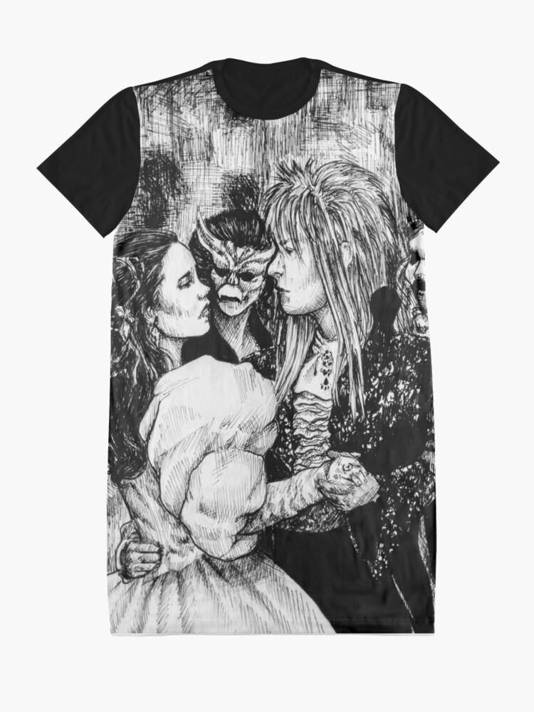 Alternate view of Labyrinth masquerade ball Graphic T-Shirt Dress