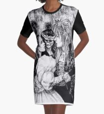 Labyrinth masquerade ball Graphic T-Shirt Dress