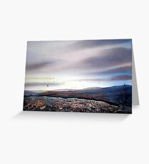 North Yorkshire Moors at Twilight Greeting Card