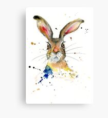 Theodore the Hare Canvas Print