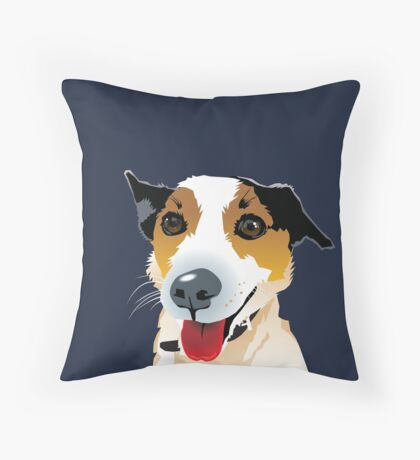 Brock Puppy Mutt Foxy Cross Throw Pillow