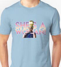 Miz Cracker: She's A Woman! Unisex T-Shirt