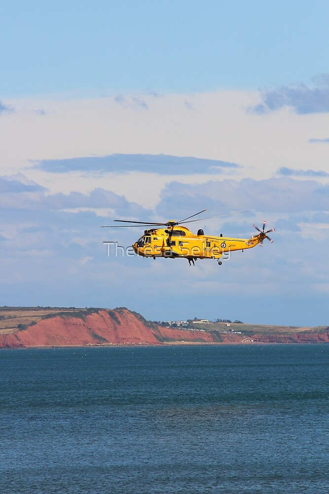 RAF Sea King Helicopter by Theresa Selley