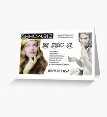 Shhow.Biz Promotion Greeting Card