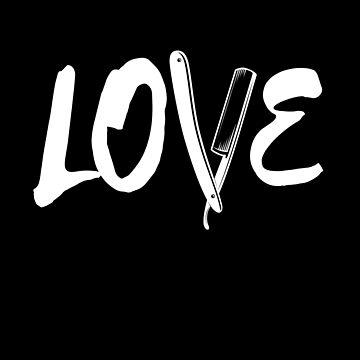 Love Barber Razor by Pointee