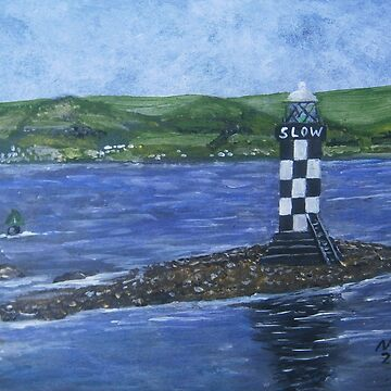 Port Glasgow, perch lighthouse  by CrossanArt