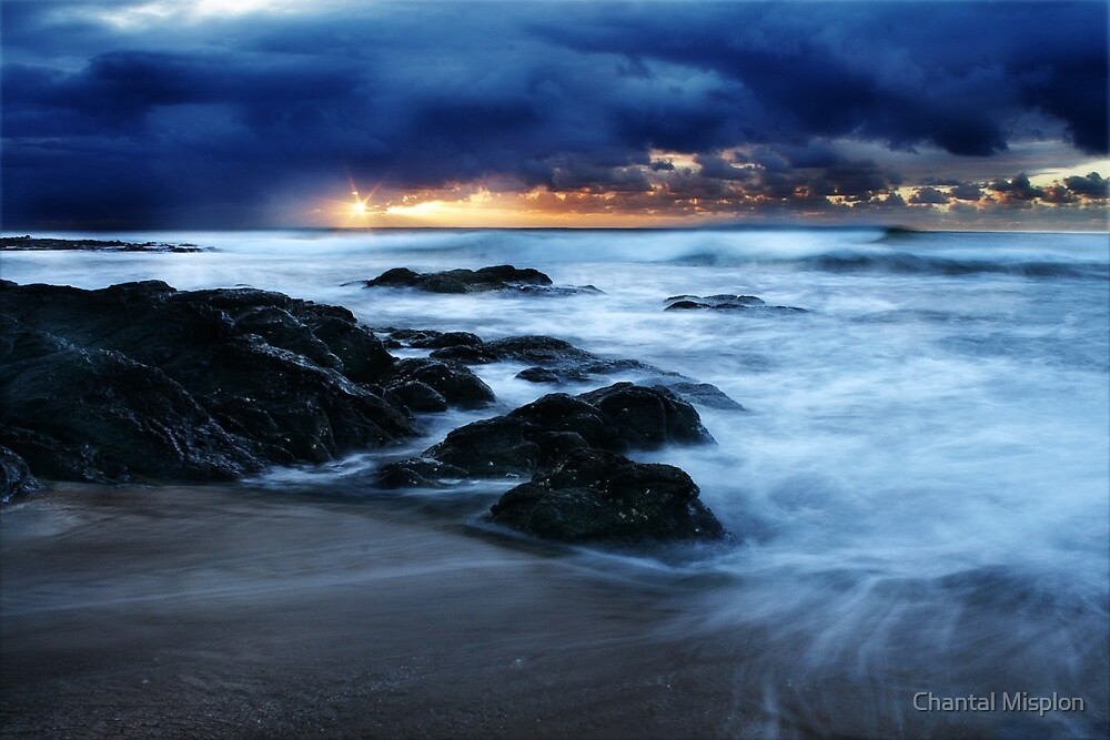 Early sunrise - Shelly Beach South Africa by Chantal Misplon
