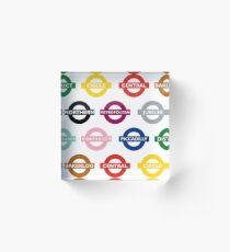 London Underground Signs Design Acrylic Block