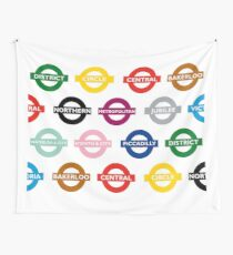 London Underground Signs Design Wall Tapestry