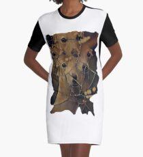 perro galgo Graphic T-Shirt Dress