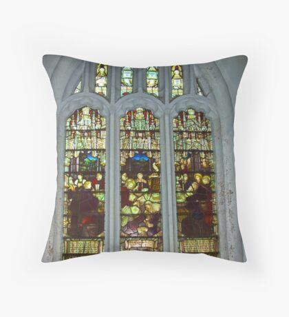 Window #4 St Peter's Church Throw Pillow