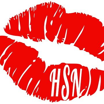 HSN Initials Red Lips by devonmaxx
