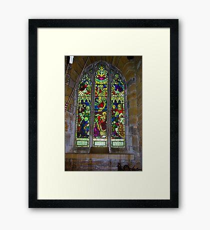 Window #5 St Peter's Church Framed Print