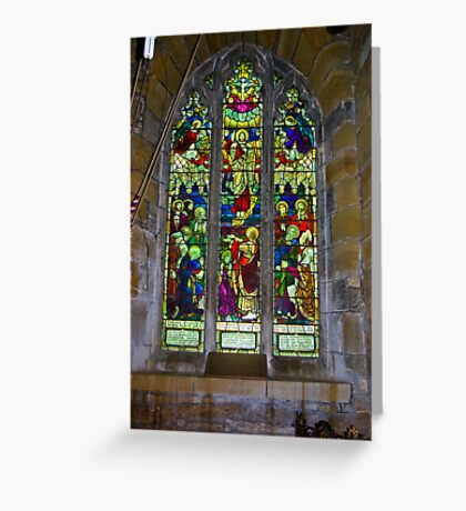 Window #5 St Peter's Church Greeting Card