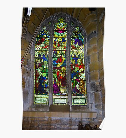 Window #5 St Peter's Church Poster