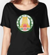 Emblem of Tamil Nadu, India Women's Relaxed Fit T-Shirt