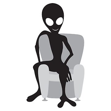 Alien Chillen In Chair by JbandFKllc