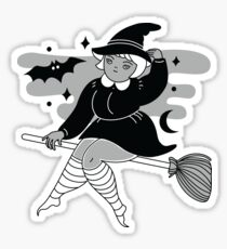 flying at midnight Sticker