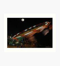 MOON & MERRY- GO- ROUND Art Print