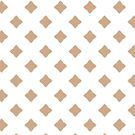 White Beige Geometric Lattice Pattern by emma60