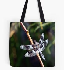 Eight-Spotted Skimmer Perched on Grass Tote Bag