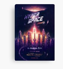 Space Travel Poster Canvas Print