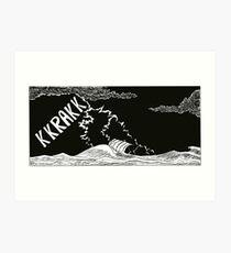 "Vikings  ""the storm"" Art Print"