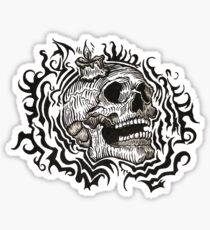 Skull & Candle design Sticker