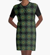 Kaleidoscope Flower 05 Graphic T-Shirt Dress