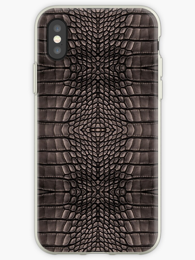 Black Alligator Skin iPhone / Samsung Galaxy Case by Tucoshoppe