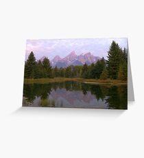 Grand Teton at Schwabacher's Landing Greeting Card