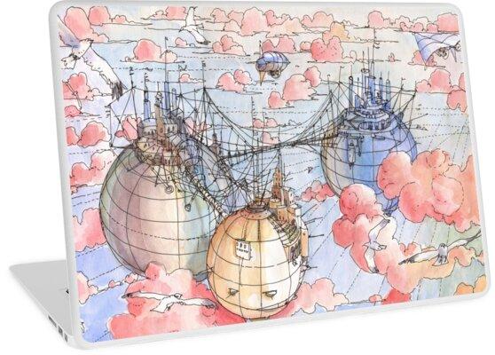 «Le Tre Mongolfiere» de Luca Massone  disegni