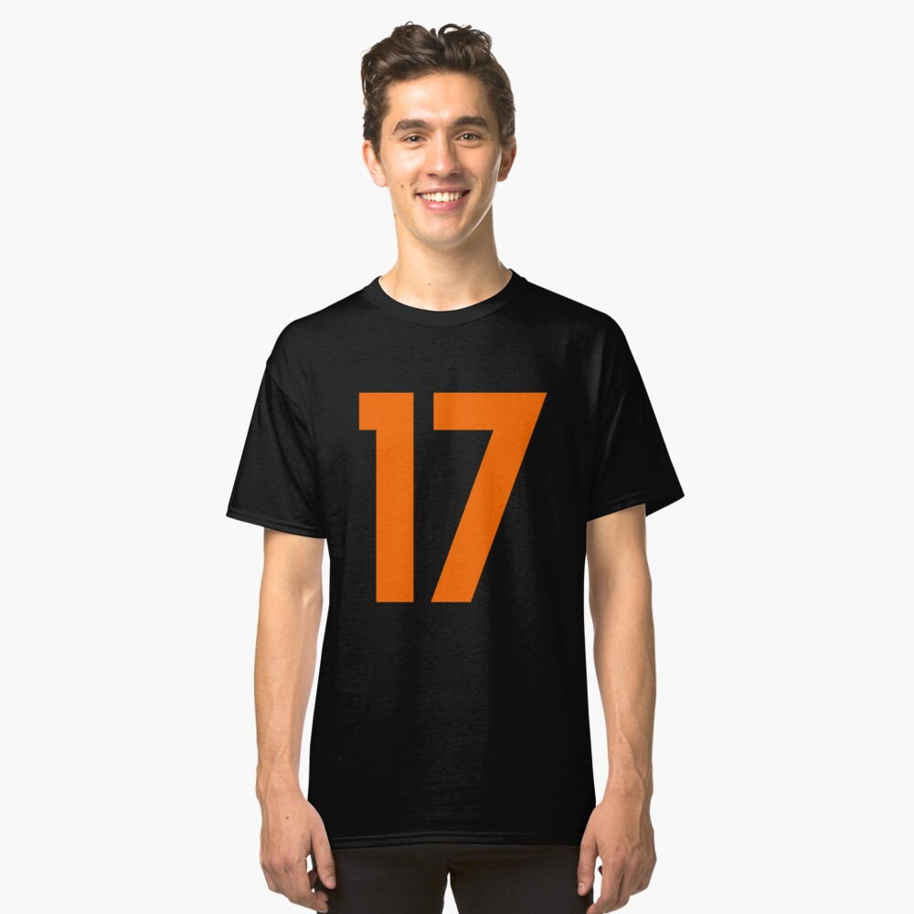 Orange Number 17 Classic T-Shirt Front